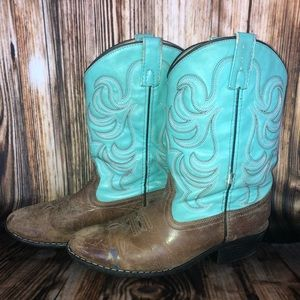 Shyanne Brown & Turquoise Cowgirl Boots Size 5